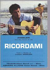 RICORDAMI (L. Angeleri) = LUCIANO ANGELERI # SPARTITO