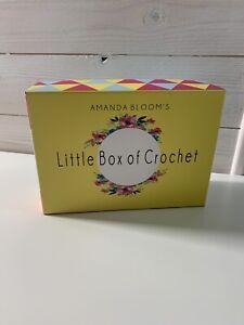 Amanda Bloom Little Box Of Crochet-baskets  Pattern Yarn Extras Crafting NEW 🌹