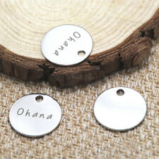 10pcs Ohana   charm silver tone message charm pendant 20mm