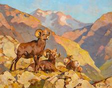 Rungius Carl Happy Valley Rams Canvas 16 x 20    #7320