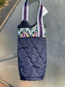 NWT Cinda B carrying wine bottle tote pink blue
