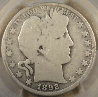 1892-O Barber Half Dollar 50c PCGS Certified G4