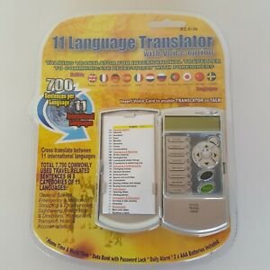11 Language Talking Translator Electronic Travel Pocket Device Model XC-0186 New