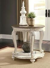 Caroline Vintage Circular Wooden Round Side Table
