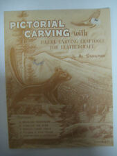 Vtg 1963 Al Stohlman PICTORIAL CARVING Leather Art Crafting Guide Book Craftool