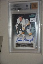 2006-07 Parkhurst Autographs Johnny Bucyk BGS 9 Mint SP