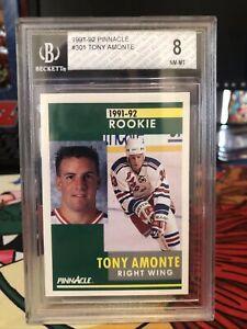 1991-92 Tony Amonte Pinnacle Rookie Card Beckett 8/10