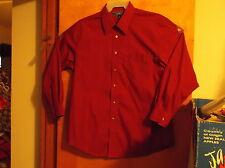 """NEW """"CROFT& BARROW """" MEN'S  DRESS  BRICK RED  L/S  SHIRT...SIZE. 17---32/3..."""