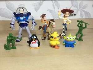 Disney Toy Story 1, 2, 3, 4 Figure Bundle / Cake Toppers - Wheezy, Ducky Etc