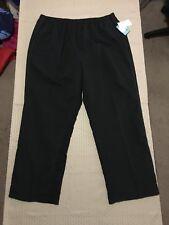 Liz & Me Sport Woman's Black/Brown Striped Track Pants Size 1X NWT