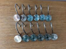 12  Metal/Chrome Shower Curtain Hooks