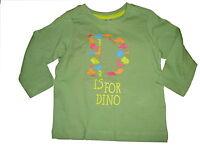 NEU Dopodopo tolles Langarm Shirt Gr. 80 grün mit kleinen Dino Motiven !!