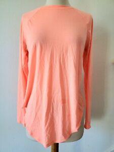 Under Armour soft loose peach orange color Long Sleeve top S