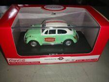 1/43 Motorcity Classics - Green & White Coca Cola 1966 VW Beetle - NIB
