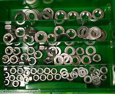 100 Teile acciaio inox scatola SCORTA DADI U DISCHI DIN 934 DIN 125 M6 - M12