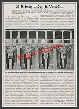 Weltkrieg Venedig Luftschutz Dogenpalast Bauwesen Bombardierungen Südfront 1915