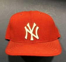 2c0b4288e35 New York Yankees Red White Authentic ON FIELD Game Fitted Hat 6 3 4 NEW