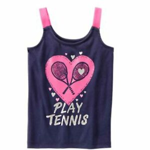 Gymboree Gymgo Play Tennis Tank NWT L 10 12 Large Top Back To School Camp