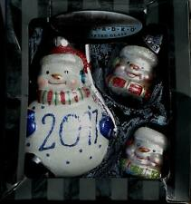 R•A•D•K•O Celebrations Hand Crafted Glass Ornament Set - 2011 - BRAND NEW IN BOX