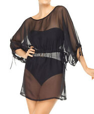 NWT SPANX Shapewear $148 Swimsuit Sheer Wrap Cover Up Tunic Dress Swimwear L/XL