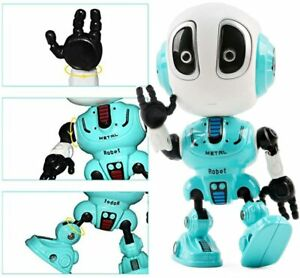 Mini Die Cast Intelligent Robot Toy Play Set with Recording Talking Repeat  LED