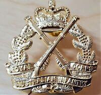 *10 X VIETNAM AFGHANISTAN WAR ROYAL AUSTRALIAN INFANTRY CORP UNIFORM CAP BADGES