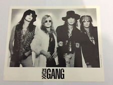 ROXX GANG '8 x 10' Black & White Band Photo Glam Rock Hair Metal Kevin Steele