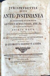 JVRISPRVDENTIA VETVS ANTE-JVSTINIANEA - 1737