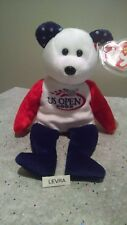 "SMASH ~ US OPEN 2005 tennis ~ Ty Beanie Babies Bear 8"" ~ exclusive silver logo"