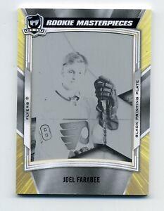 2019-20 The Cup Hockey JOEL FARABEE Rookie Masterpieces Black Printing Plate 1/1