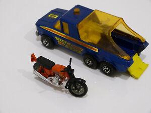 "Matchbox Lesney Super Kings Motorrad Pick-Up Truck K6/II 1974 Team Honda ""Top"""