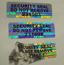 "1000 SVAG Security Seals Tamper Evident Stickers Seals .5"" x 1.5"" SSDNR#"