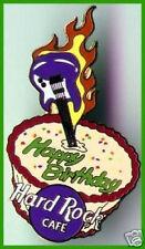 Hard Rock Cafe HAPPY BIRTHDAY Flaming Guitar & CAKE PIN