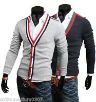 U6163 New Fashion Mens Casual Slim Fit Long Sleeve Sweaters Shirts BLACK,GREY