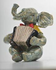 Elephant playing Accordion Trinket Box by Keren Kopal Faberge Austrian Crystal