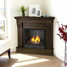 RealFlame Chateau Corner Fireplace Gel Fuel Heater White, Espresso, or Walnut