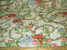 "~11 YDS~BRAEMORE ""FLORAL DAMASK""~COTTON UPHOLSTERY FABRIC FOR LESS~"