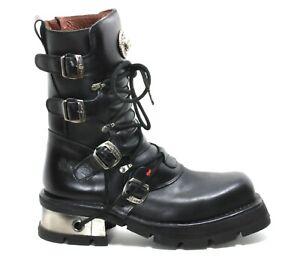 279 Stiefel Plateau Gothic Leder Boots New Rock 373 C Planet Metall Original 47