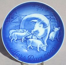 Bing & Grondahl 2003 Mother's Day Plate B&G Pig / Sow & Piglets Mint In Box!
