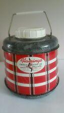 Vintage Mid century  Poloron Flamingo Fiberglass Insulated Jug Thermos