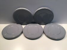 Lot of 5 Vintage 16 mm Gray Metal Film Reel Cans 9 1/2 Inches 600 ft New