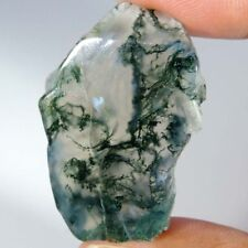 Best Offer 100% Natural Moss Agate Rough Slab Cabochon Material For Gemstone