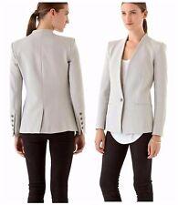 HELMUT LANG Gray Stretch Twill Single Button Blazer Jacket M ~SLEEK & MINIMALIST