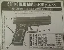 SAND Texture Decal Grip Springfield Armoury-XD POSITIVE Grip in Extreme Weather!