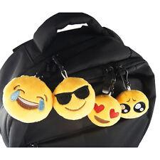 2x Emoji Emoticônes Porte-clés Pendentif Sac Phone Peluche Décor Gadeaux Anneaux