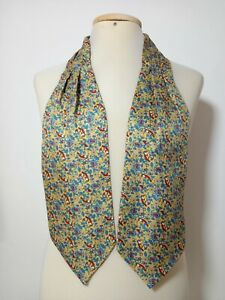 "GORGEOUS YELLOW  ASCOT 100% SILK BIRD PRINT 50""/5.5"" EXCELLENT CONDITION"