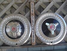 Two 1963 63 Ford Fairlane 13 In Spinner Hubcaps Wheel Covers Center Caps Fomoco