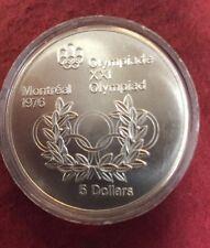 1974 Queen Elizabeth II 5 Dollar Sterling Silver 1976 Olympic Coin