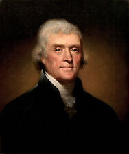 Thomas Jefferson Founding Father Painting USA High Quality Canvas Fine Art Print