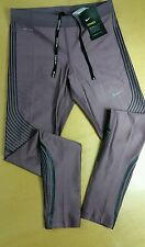 NIKE POWER SPEED RUNNING TIGHTS PURPLE SHADE,BLACK 719784-533 WOMENS SIZE MEDIUM